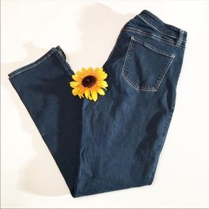 Talbots curvy slim ankle blue jeans 8